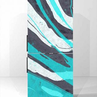 Αυτοκολλητο ψυγειου abstract zebra