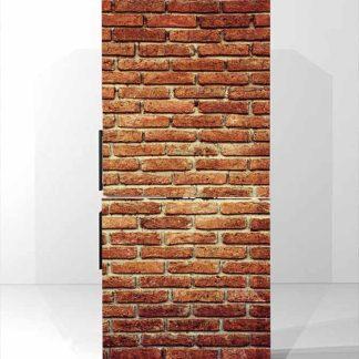 Αυτοκολλητο ψυγειου Vintage brick