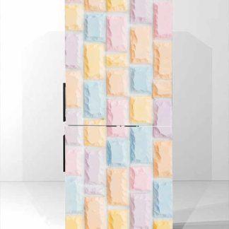 Αυτοκολλητο ψυγειου Pastel bricks