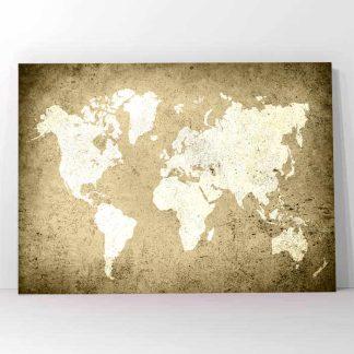 Πίνακας σε καμβά παγκόσμιος χάρτης World map Moka