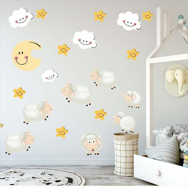Αυτοκολλητα τοιχου προβατακια