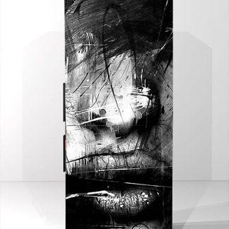 Αυτοκολλητο ψυγείου αφηρημενο προσωπο