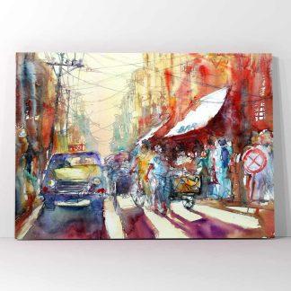 Πίνακας σε καμβά city painting