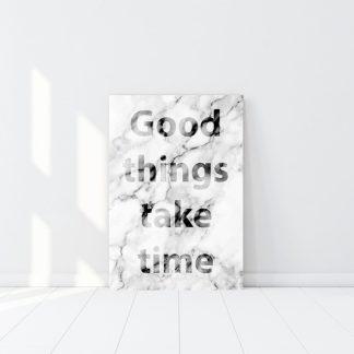 Καθετος πινακας σε καμβα Good things
