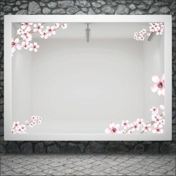 Αυτοκόλλητο βιτρίνας spring blossom