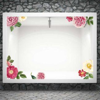 Αυτοκόλλητο βιτρίνας ανοιξιάτικα λουλούδια