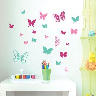Αυτοκόλλητα τοιχου πεταλούδες