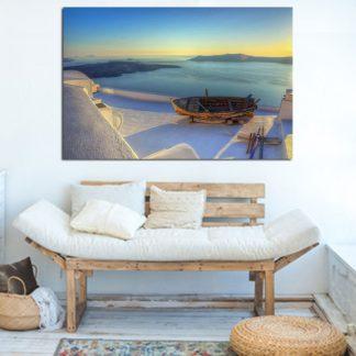 Πίνακας σε καμβα απέραντο γαλάζιο
