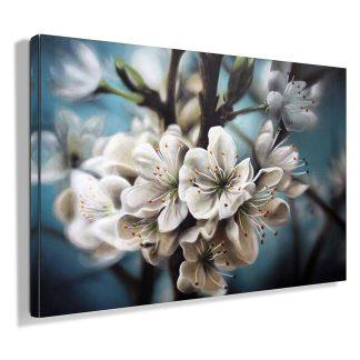 πινακας-σε-καμβα-white-flowers