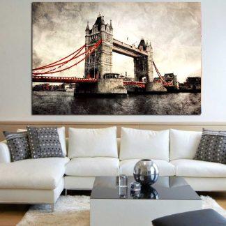Πίνακας σε καμβά London bridge tower