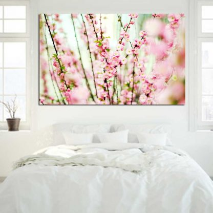 Πίνακας σε καμβά light pink flowers