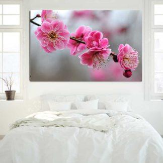 Πίνακας σε καμβά pink flowers No2