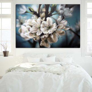 Πίνακας σε καμβά white flowers