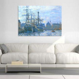Πίνακας σε καμβά Claude Monet αντίγραφο The Havre the trade bassin Modern