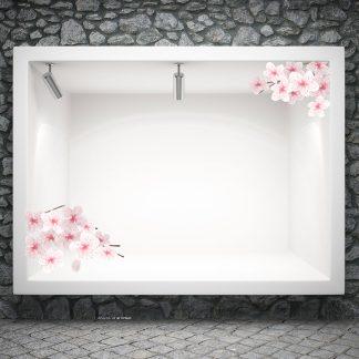 Αυτοκόλλητο βιτρίνας ανοιξιατικο Spring Blossom