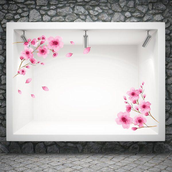 Αυτοκόλλητο βιτρίνας Cherry Blossom