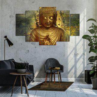 Πενταπτυχος πινακας σε καμβα Budha 1.50Χ90