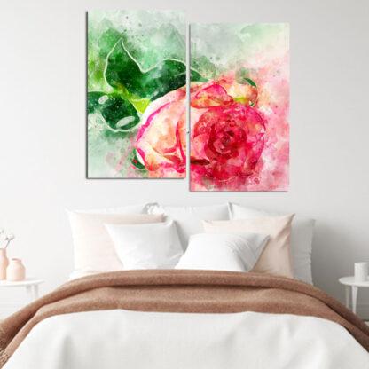artistic-rose-διπτυχος-πινακας-σε-καμβα