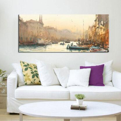 Πανοραμικός πίνακας σε καμβά Watercolor Venice