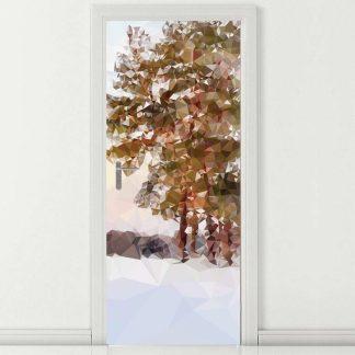 Αυτοκόλλητο πόρτας Art Tree