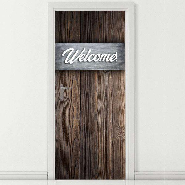 Αυτοκόλλητο πόρτας Welcome