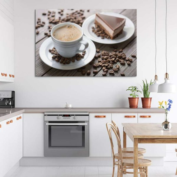 Πίνακας σε καμβά καφές και γλυκό