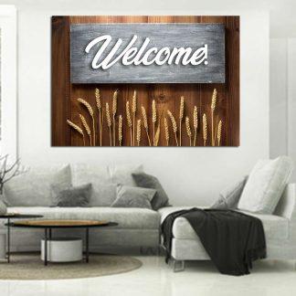 Πίνακας σε καμβά Welcome