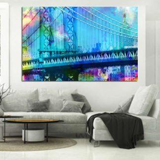 Πίνακας σε καμβά Manhattan Bridge