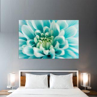 Πίνακας σε καμβά γαλάζιο άνθος