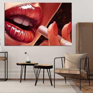 Πίνακας σε καμβά γυναικεία χείλη