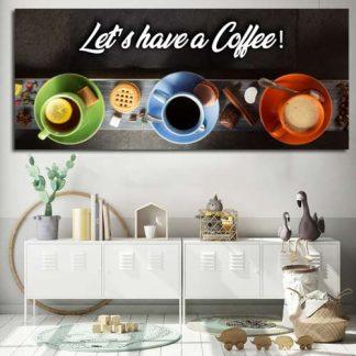 Πανοραμικός πίνακας σε καμβά Let's have a coffee