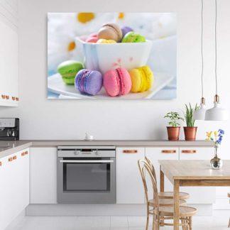 Πίνακας σε καμβά macarons