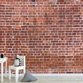 Ταπετσαρία τοίχου βινυλίου αυτοκόλλητη ματ τούβλο