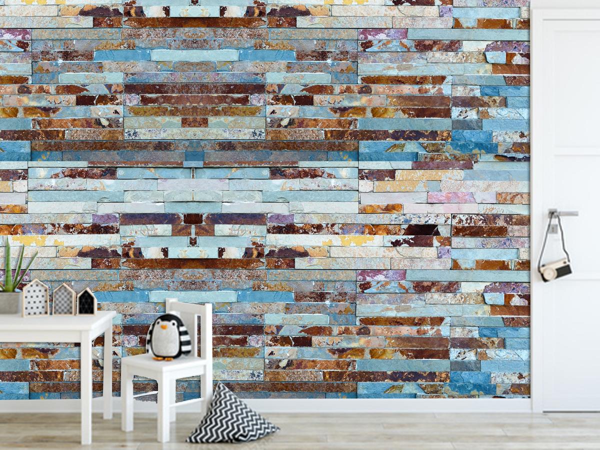 Ταπετσαρία τοίχου βινυλίου πολύχρωμη πέτρα