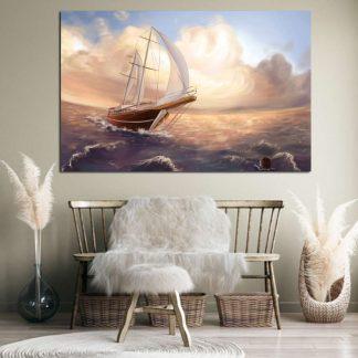 Πινακας σε καμβα καράβι στην θάλασσα