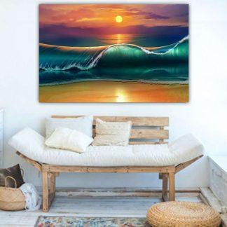 Πινακας σε καμβα πολυχρωμο ηλιοβασιλεμα