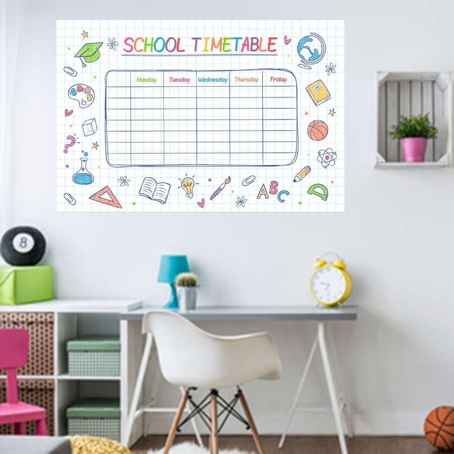 Αυτοκολλητο τοιχου εβδομαδιαιο σχολικο προγραμμα No3