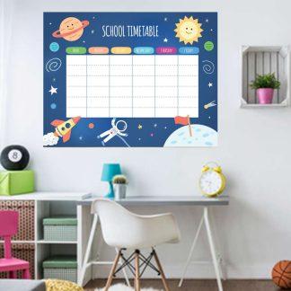 Αυτοκολλητο τοιχου εβδομαδιαιο σχολικο προγραμμα No2