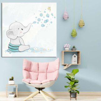 Βρεφικος πινακας με ελεφαντακι που πεταει νερο