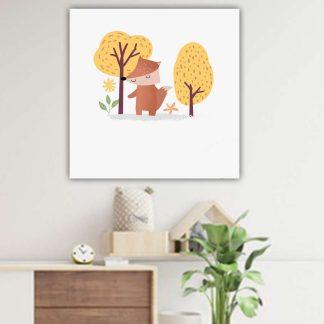 Βρεφικός παιδικός πίνακας σε καμβά με αλεπού