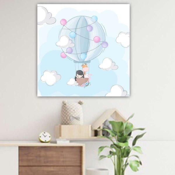 Βρεφικός παιδικός πίνακας με αερόστατο