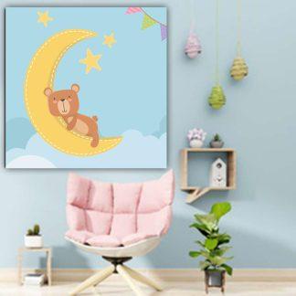 Βρεφικος πινακας αρκουδακι που κοιμαται