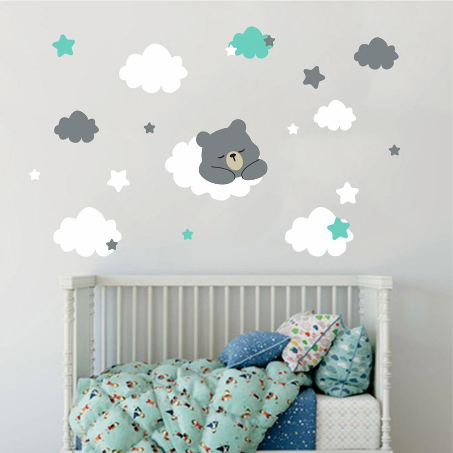 Αυτοκόλλητο τοίχου αρκουδάκι που κοιμάται