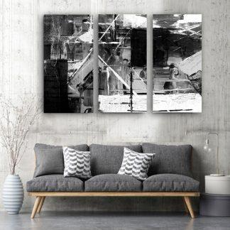 Τρίπτυχος πίνακας σε καμβά Modern Abstract