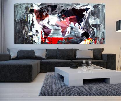 Πανοραμικός πίνακας σε καμβά Art World Map