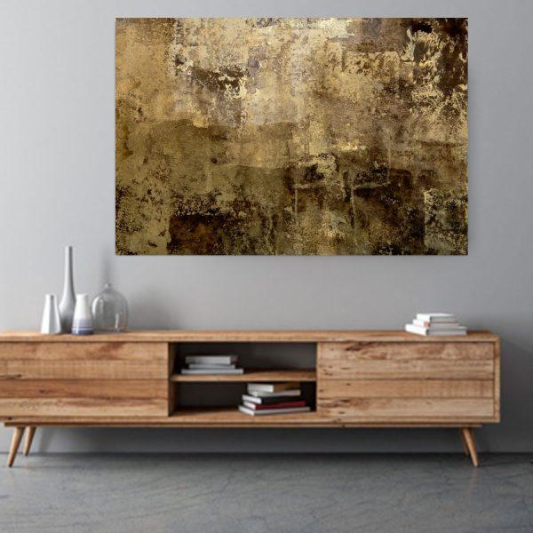 πινακας brown abstract art